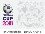 football 2018 world... | Shutterstock .eps vector #1040277346