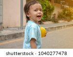 asian baby girl happy and smile. | Shutterstock . vector #1040277478