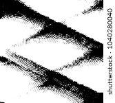 grunge halftone black and white ... | Shutterstock .eps vector #1040280040