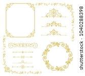 set of vintage elements. frames ... | Shutterstock .eps vector #1040288398