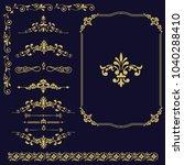 set of vintage elements. frames ... | Shutterstock .eps vector #1040288410