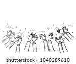 gesture of the hand sketch | Shutterstock .eps vector #1040289610