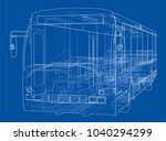 concept city bus. vector... | Shutterstock .eps vector #1040294299