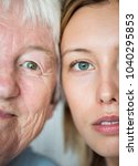family generation green eyes... | Shutterstock . vector #1040295853