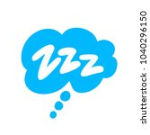 zzz. comic bubble with text. | Shutterstock .eps vector #1040296150