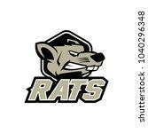 rat logo design | Shutterstock .eps vector #1040296348