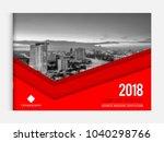 business brochure cover design... | Shutterstock .eps vector #1040298766
