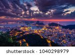 beautiful panorama of rio de... | Shutterstock . vector #1040298979