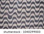copacabana beach mosaic pattern ... | Shutterstock . vector #1040299003