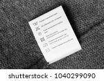 care clothes label in english... | Shutterstock . vector #1040299090