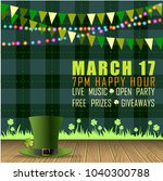 abstrackt of st.patrick's day... | Shutterstock .eps vector #1040300788