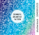 vector asymmetric pattern with... | Shutterstock .eps vector #1040301523
