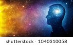the universe within. silhouette ... | Shutterstock . vector #1040310058