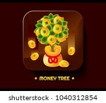 money tree moneybag gold coins...