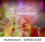please volunteer some time now  ...   Shutterstock . vector #1040313160