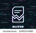 glitch effect. corrupted... | Shutterstock .eps vector #1040314480
