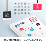 gifts line icons. set of... | Shutterstock .eps vector #1040314510