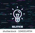 glitch effect. idea line icon.... | Shutterstock .eps vector #1040314954