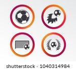 football icons. soccer ball... | Shutterstock .eps vector #1040314984