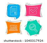 set of attachment  checkbox and ... | Shutterstock .eps vector #1040317924