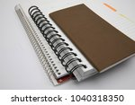 notes  notebooks  and pens | Shutterstock . vector #1040318350