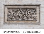 view of arc de triomphe from... | Shutterstock . vector #1040318860