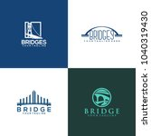 bridge logo design | Shutterstock .eps vector #1040319430