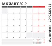 calendar planner for january... | Shutterstock .eps vector #1040320336
