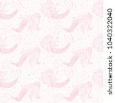 beautiful mermaids pink... | Shutterstock .eps vector #1040322040