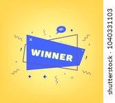 geometric winner badge with... | Shutterstock .eps vector #1040331103