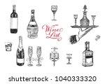 wine list. hand drawn vector...   Shutterstock .eps vector #1040333320