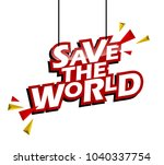 red and yellow tag save the... | Shutterstock .eps vector #1040337754