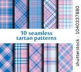 set of seamless tartan pattern | Shutterstock .eps vector #1040337880