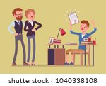 student boy happy with an... | Shutterstock .eps vector #1040338108