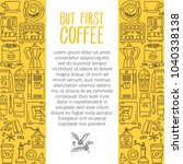 outline icons for coffee shop.... | Shutterstock .eps vector #1040338138