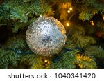 christmas tree beautifully... | Shutterstock . vector #1040341420