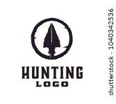 hipster   retro hunting logo... | Shutterstock .eps vector #1040342536