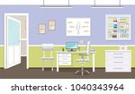 doctor's consultation room... | Shutterstock .eps vector #1040343964