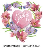 vector illustration of spring... | Shutterstock .eps vector #1040345560