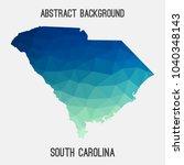 south carolina map in geometric ... | Shutterstock .eps vector #1040348143