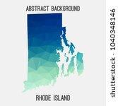 rhode island map in geometric... | Shutterstock .eps vector #1040348146
