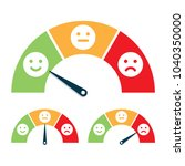 feedback concept  valuation by... | Shutterstock .eps vector #1040350000