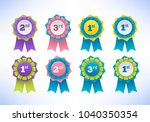 collection of elegant colorful... | Shutterstock .eps vector #1040350354