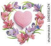 vector illustration of spring... | Shutterstock .eps vector #1040351674