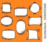 Halloween Frames In Orange...