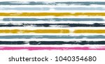 tartan watercolor brush stripes ... | Shutterstock .eps vector #1040354680