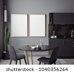 dining room and kitchen... | Shutterstock . vector #1040356264
