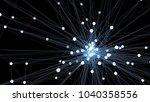 abstract blue futuristic...   Shutterstock . vector #1040358556