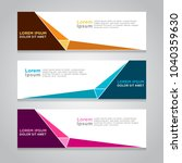 design banner. abstract... | Shutterstock .eps vector #1040359630