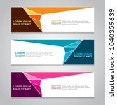 design banner. abstract... | Shutterstock .eps vector #1040359639